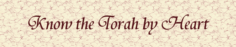 Know the Torah by Heart